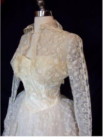 lace 1950 vintage wedding dress